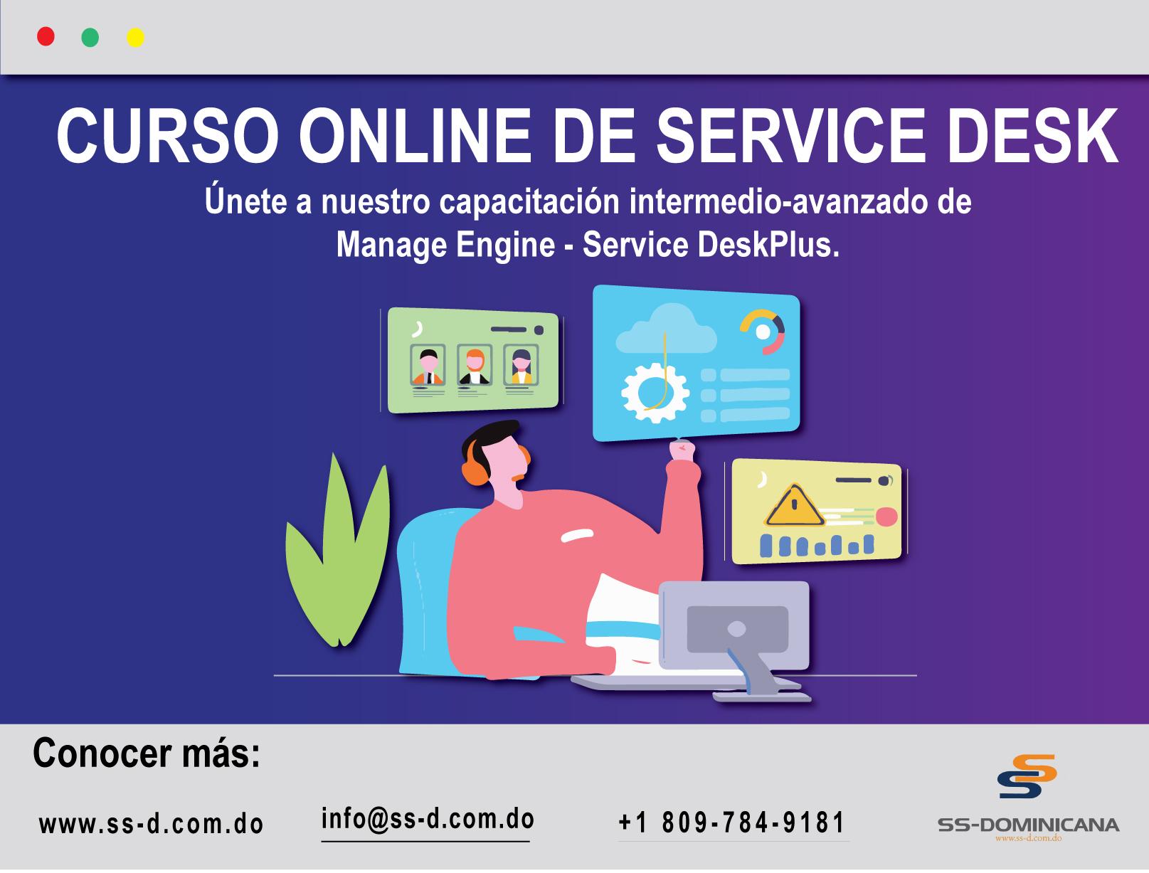 Curso Online de Service Desk Plus